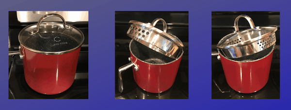 One cooking hack is having a multi-use pot.