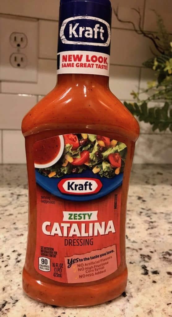 Catalina dressing adds flavor to your meat.