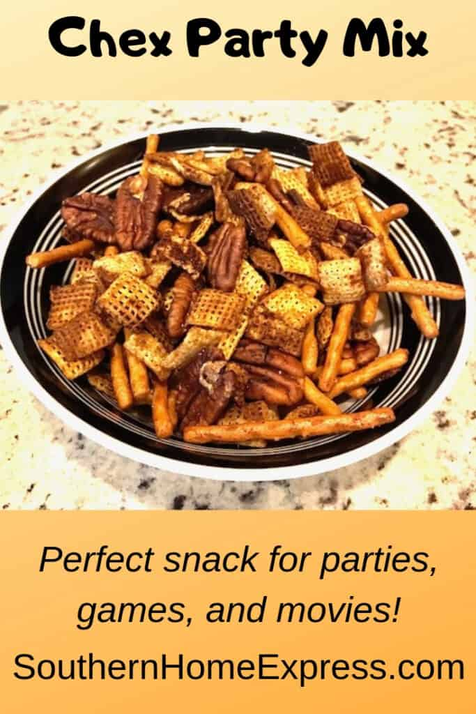 Chex party mix is the ideal snack for a party, movie, or game night.