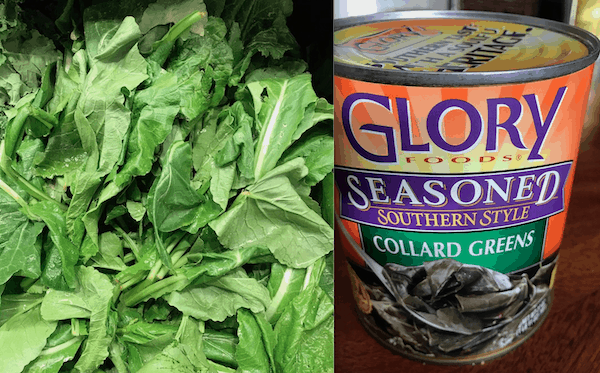 Fresh or canned greens are traditional sides for New Years Day dinner