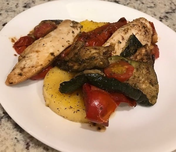 Chicken and Polenta with Vegetables