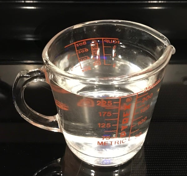 1 measuring cup of water