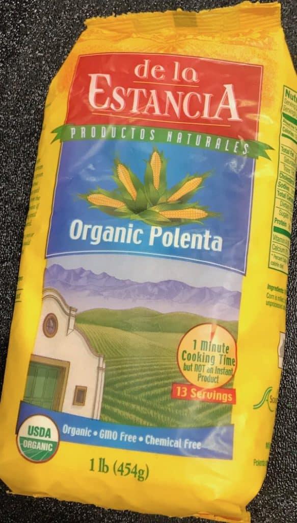 Bag of organic dry polenta