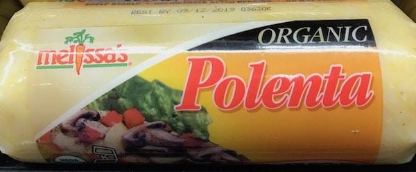 Tube of organic polenta
