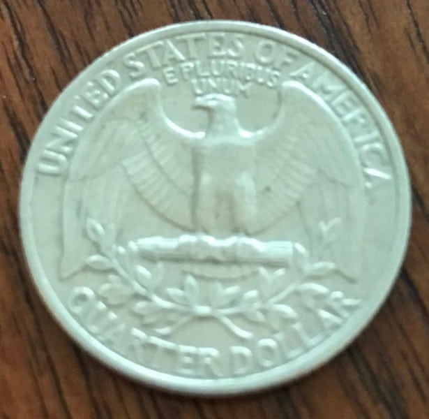"The quarter has an eagle, hence the southern saying, ""Squeeze a quarter so tight you can hear the eagle scream."""