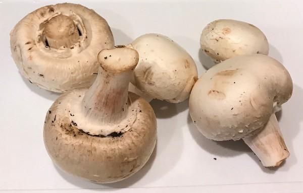5 whole mushrooms