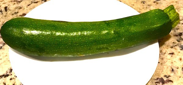 Zucchini on a plate