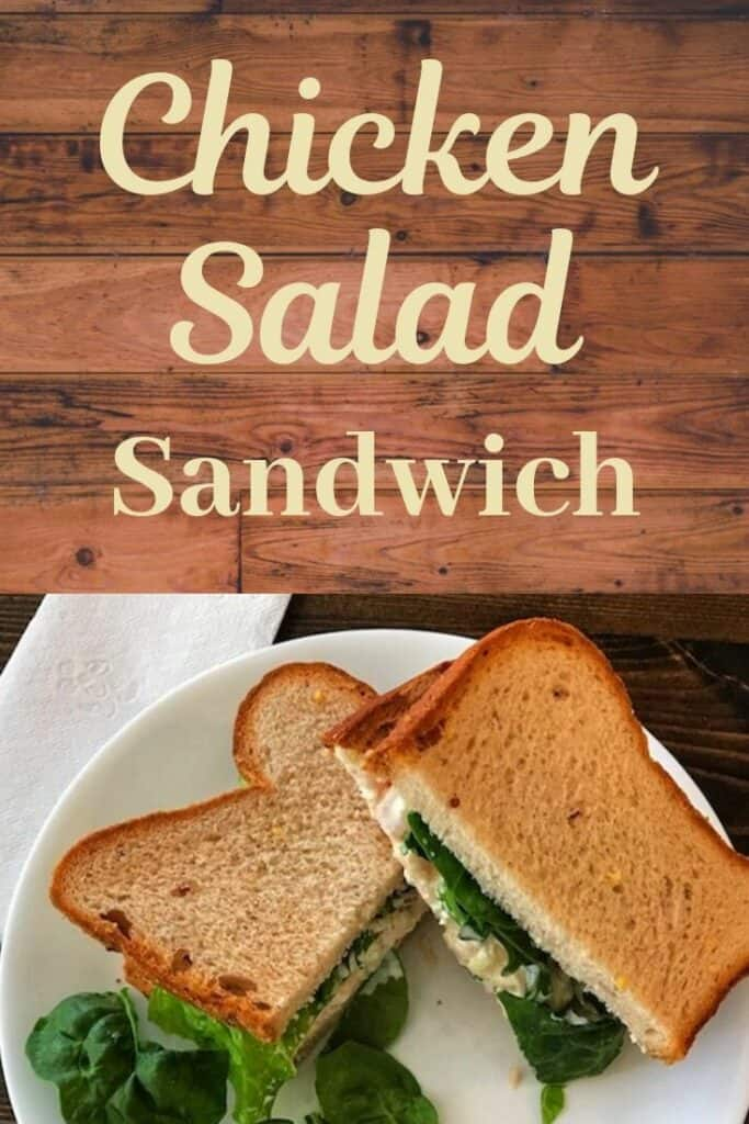 Chicken salad sandwich with lettuce on a plate