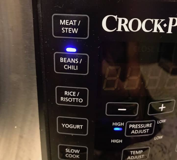 The Crock Pot Express on the beans/chili setting