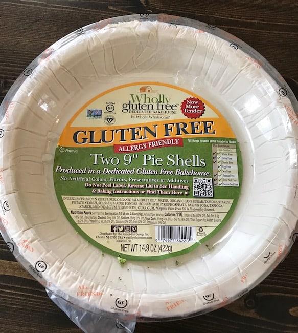 Frozen gluten-free pie crust