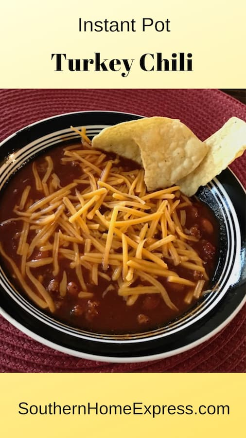 The Instant Pot makes cooking turkey chili a breeze. Start it when you get home from work, and you'll be eating less than an hour later.
