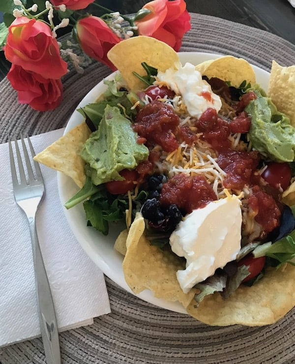 Layered Mexican salad plate