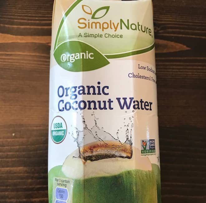 Container of coconut water