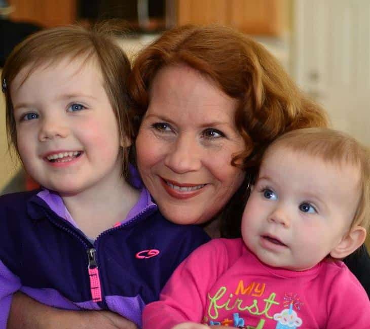 Southern nana with her grandkids.