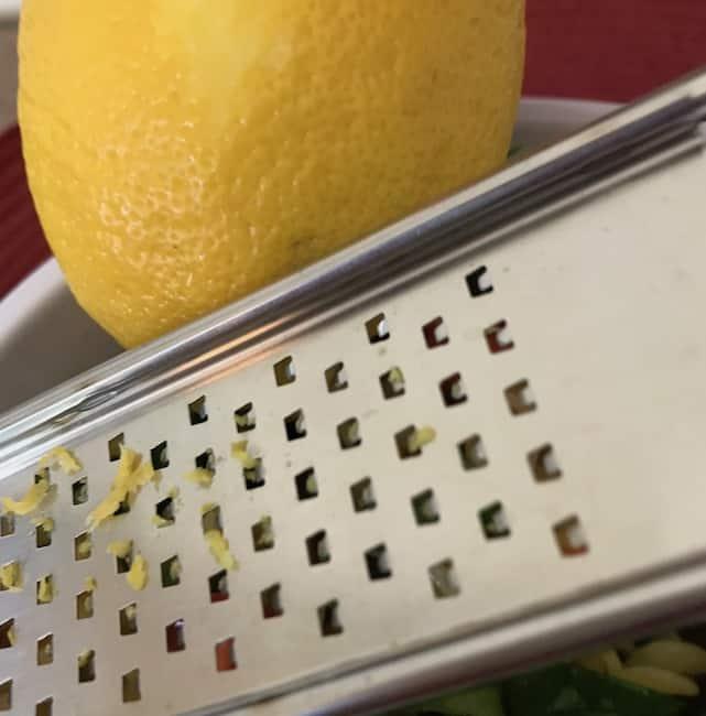 Zest some lemon for extra flavor.