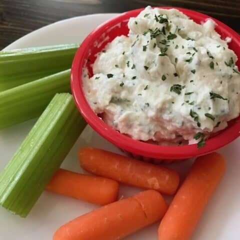 Veggies and onion dip