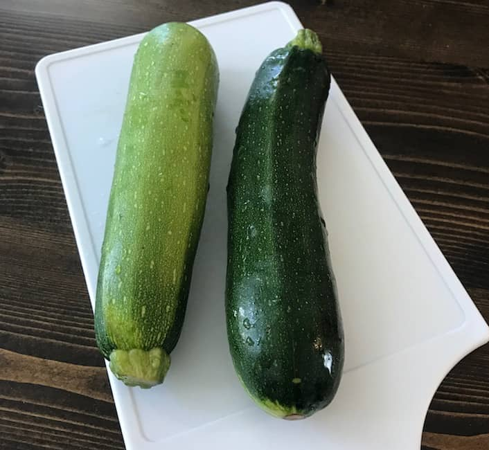 Two full-size zucchinis