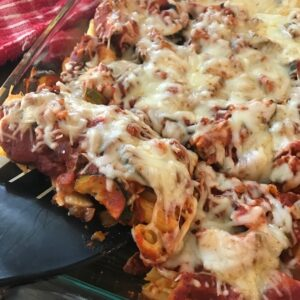 Serving Italian Chicken Zucchini Casserole