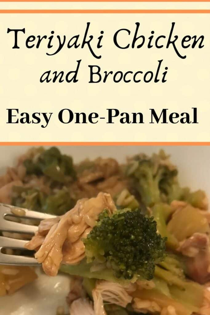 Teriyaki chicken and broccoli is an easy one-pan meal that you can cook in a hurry. All you need are four ingredients and less than 30 minutes to cook this delicious family dinner. #familydinner #onepotmeal #dinnerrecipes #dinnerrecipeideas #budgetdinner #chickendinner #chickendinnerrecipeideas #chickenrecipe #teriyakichickendinner