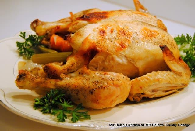 Honey-baked chicken on a platter
