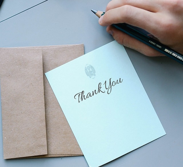 Thank You Note - Another thing not to do in the South is forget to write a thank you note.