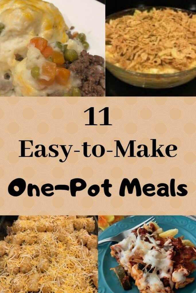 11 easy to make one-pot meals