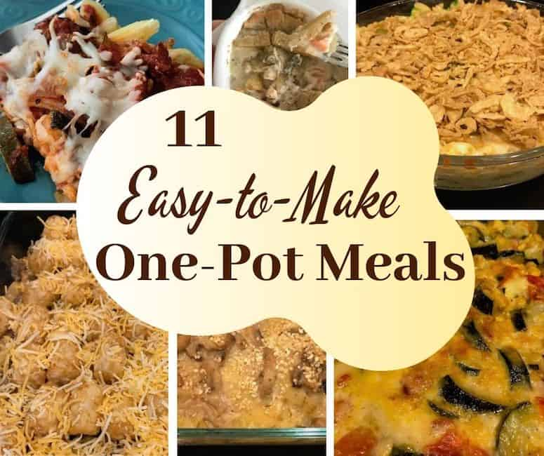 11 easy-to-make one-pot meals with a variety of dishes