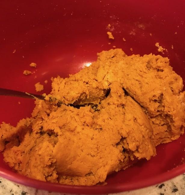 Mixed pumpkin cake batter