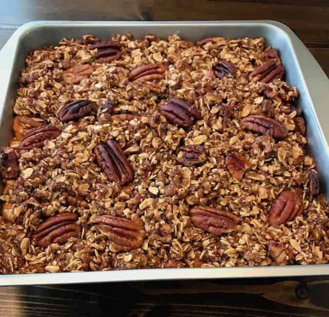 Sweet potato pecan crunch casserole