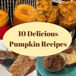 4 of 10 delicious pumpkin recipes