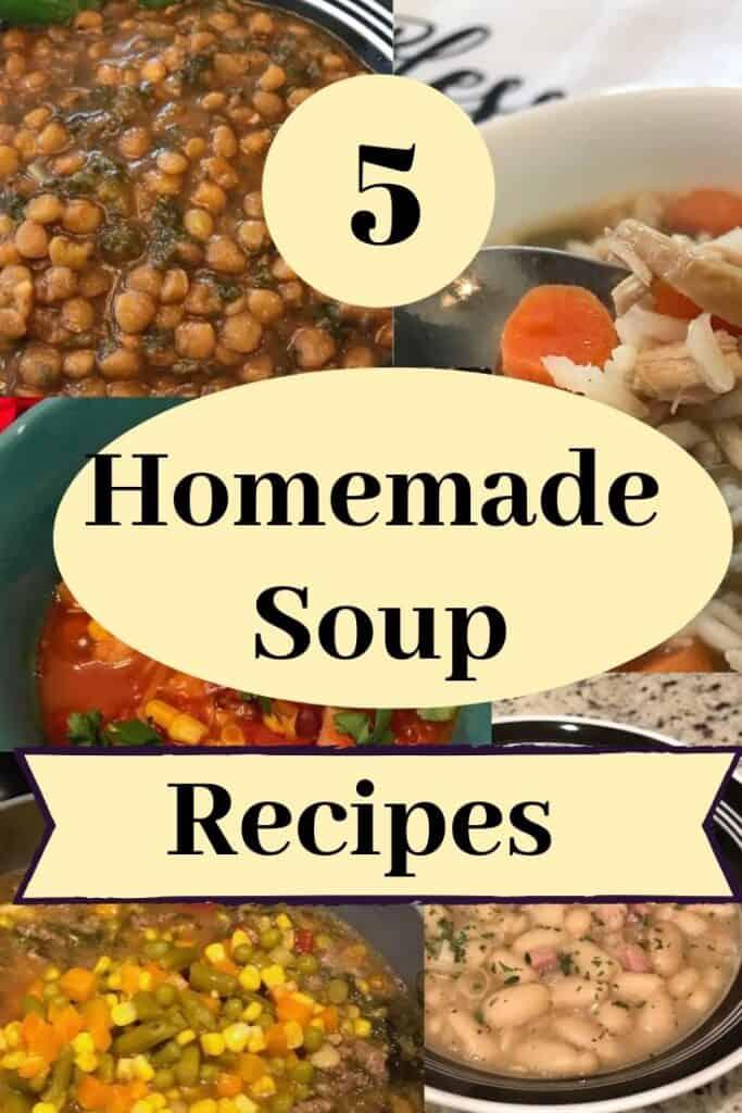5 homemade soup recipes