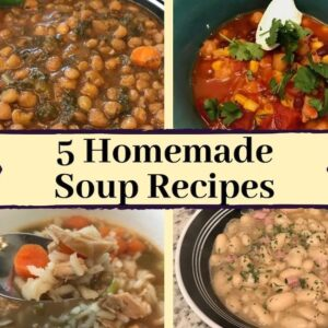 4 of 5 homemade soup recipes