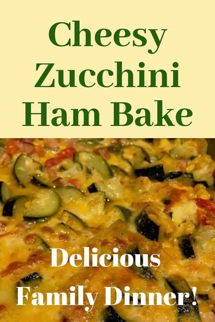 This cheesy zucchini ham bake is an easy family dinner recipe that will satisfy even picky eaters.