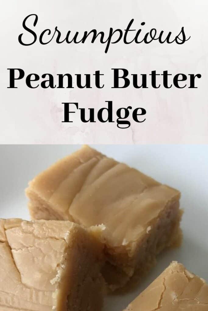 Scrumptious peanut butter fudge on a plate