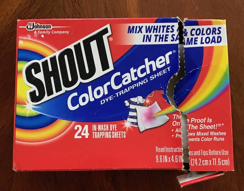 Pack of Shout Color Catcher sheets