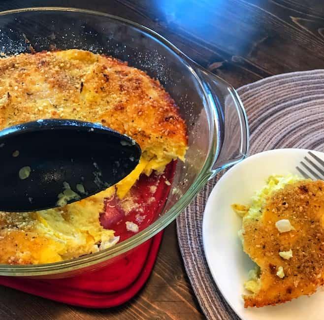 Serving squash casserole