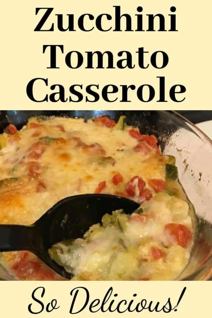 Zucchini, tomato, and cheese casserole