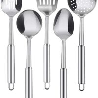 Utopia Kitchen Stainless Steel Cooking Utensil Set - 5-Piece Serving Spoons