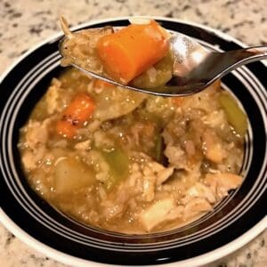 Bowl of chicken stew