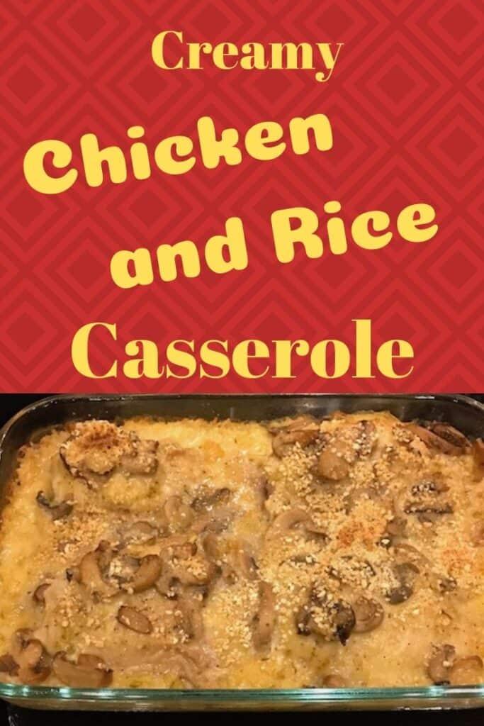Creamy chicken and rice casserole