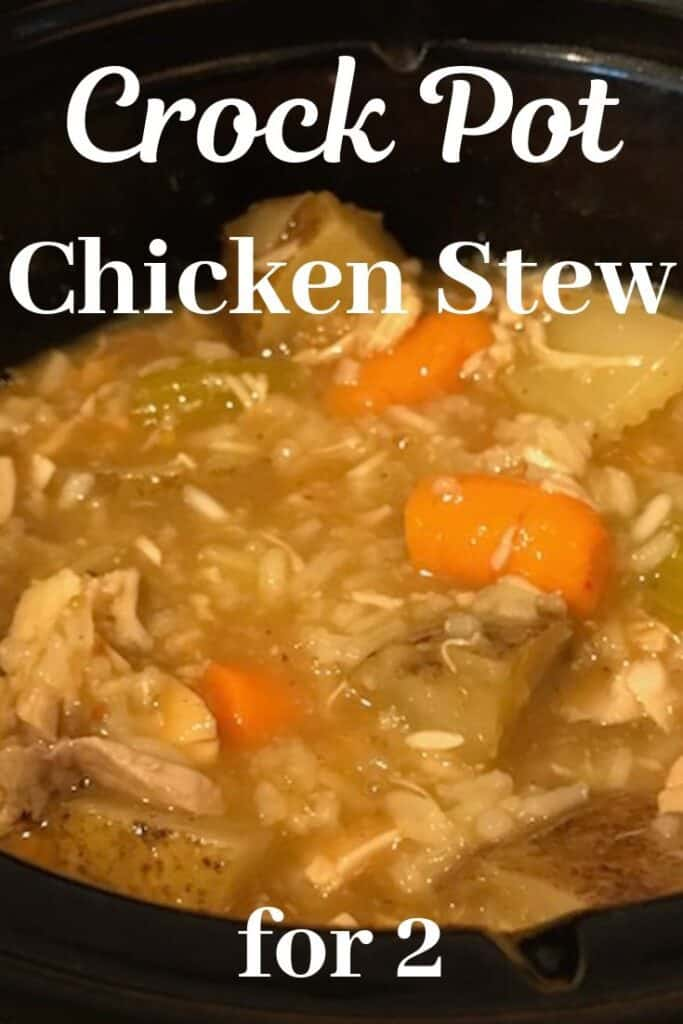 Chicken stew in a small slow cooker