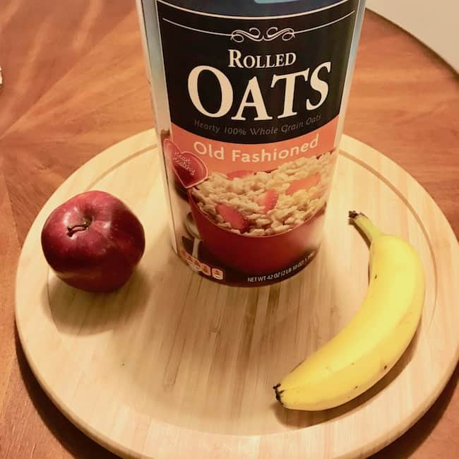 Oats, apple and banana