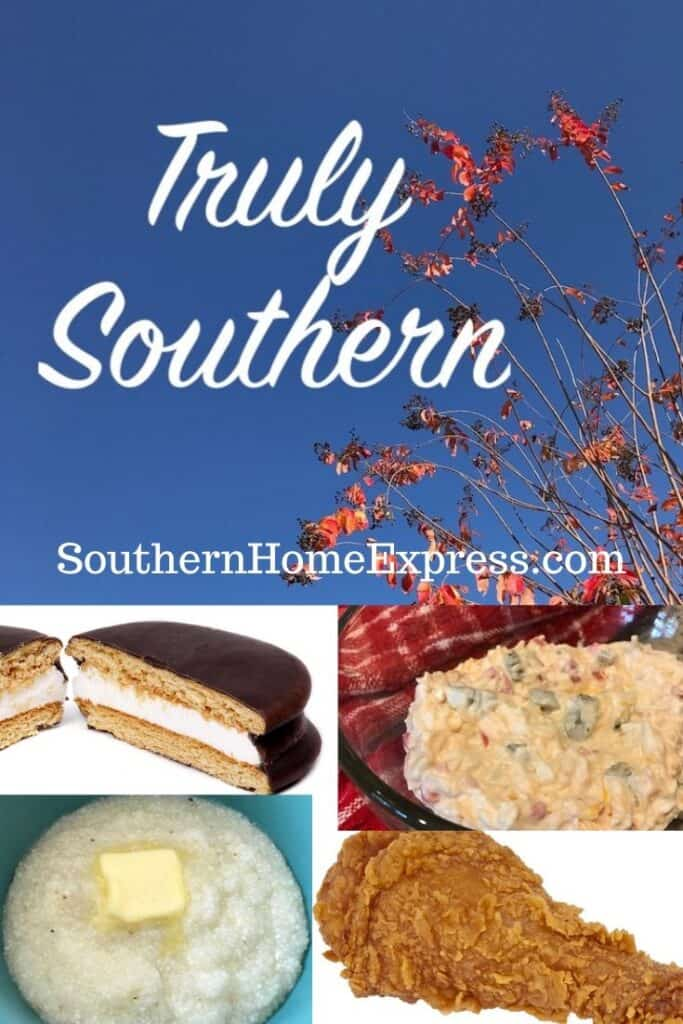 Truly southern with pictures of food