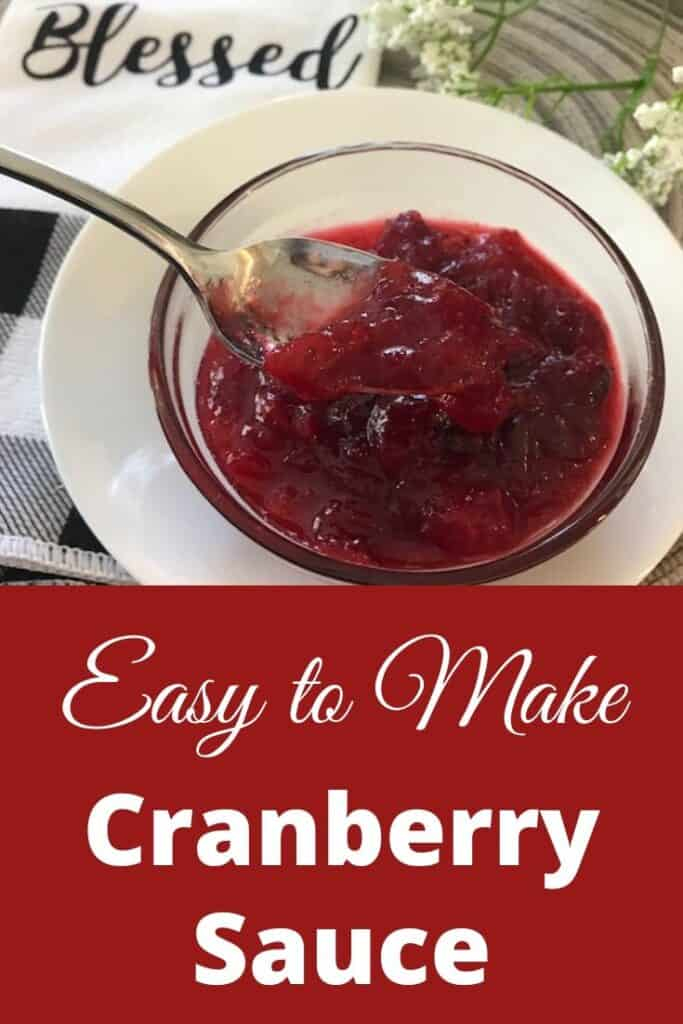 Bowl of easy-to-make cranberry sauce