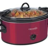 Crock-Pot 6-Quart Cook & Carry Oval Manual Portable Slow Cooker, Red - SCCPVL600-R