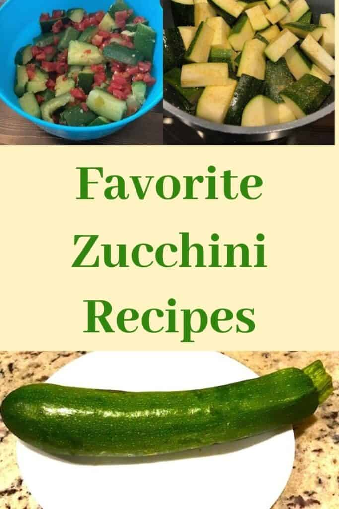 Favorite zucchini recipes with zucchini in bowls