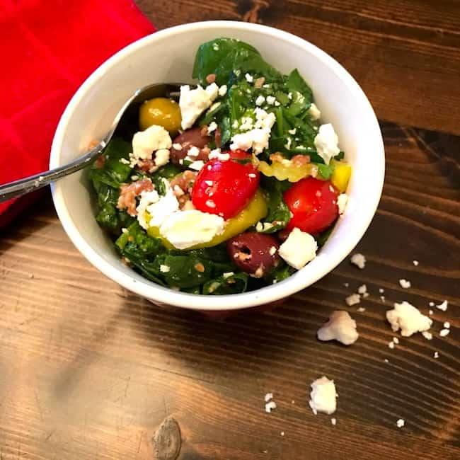 Greek olive and feta salad