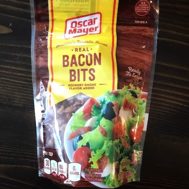 Packaged bacon bits