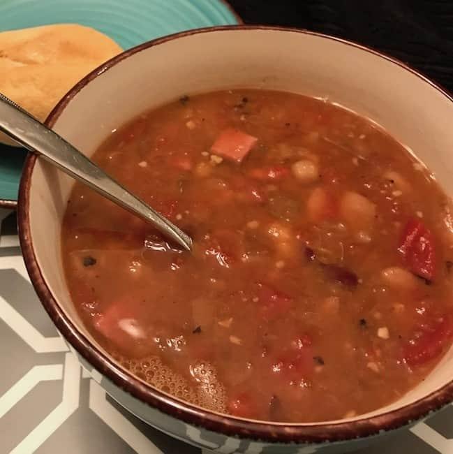 Bowl of 15-bean soup