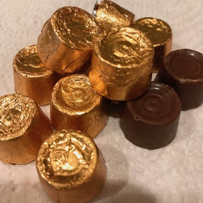 Pile of Rolos, some unwrapped and some still wrapped